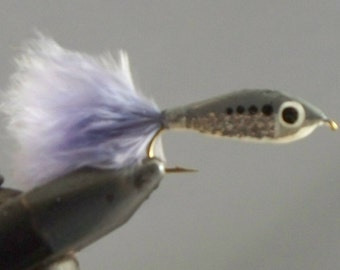 Epoxy minnows,  Fishing flies, Rainbow, silver, white, brown, mouches pêche, trout, pearch