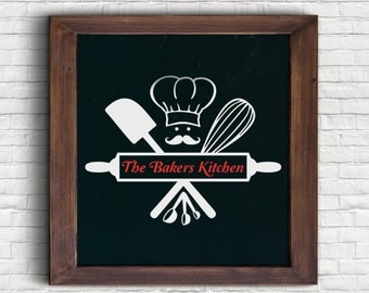 The Bakers Kitchen Art SVG