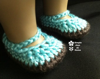 "American Girl Doll Shoes // Doll Shoes // Crocheted Doll Shoes // Gift for Girls // 18"" Doll Accessory // Custom Color // Customizable Gift"