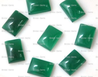 10 Pieces Wholesale Lot Wonderful Green Onyx Octagon Shape Cabochon Gemstone For Jewelery
