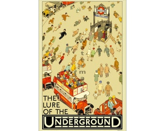 The Lure of the Underground - Vintage London Underground Poster