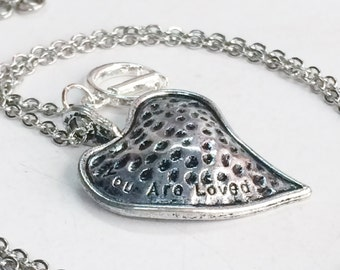 Metal Heart Personalised Stainless Steel Necklace N142