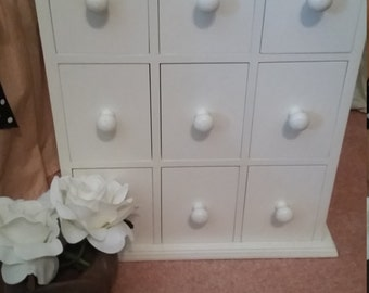 Vintage Cottage Chic Cabinet Jewel Chest
