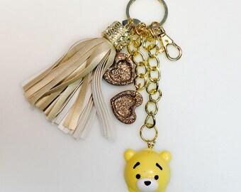 Handmade Winnie the Pooh Keychain Purse Charm