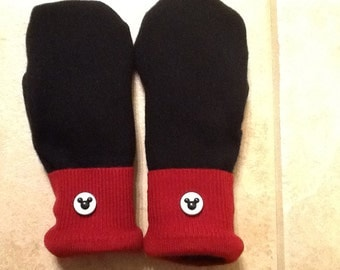 Mickey Mouse sweater mittens