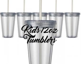 Blank Kids 12oz Tumblers (12 Min.)