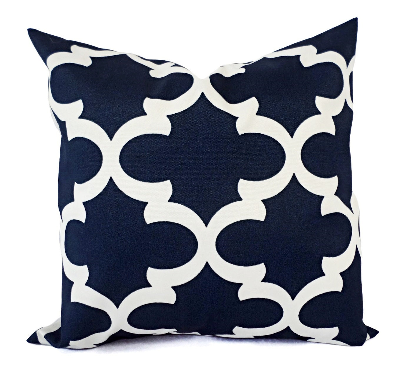 Throw Pillows Navy And White : Two OUTDOOR Pillows Navy White Pillow Cover Navy Throw