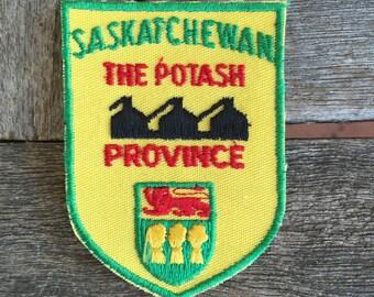Saskatchewan The Potash Province Vintage Souvenir Travel Patch