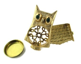 1972 AVON OWL Pin for Solid  Unforgettable Perfume Glace
