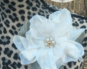Hand-crafted Vintage Ivory Magnolia Fabric Flower Brooch by The Classy Quill