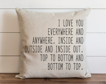 I Love You Everywhere 20 x 20 Pillow Cover // Everyday // Throw Pillow // Cushion Cover // Gift for them // Accent Pillow