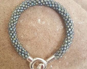 Iridescence Kumihimo Beaded Bracelet