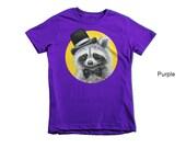 Racoon children t-shirt, racoon kid's t-shirt, animal t-shirt, children t-shirt, animal children t-shirt,  kids tee, children clothing