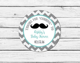 Little Man Mustache Baby Shower Favor Tag- Printable/DIY