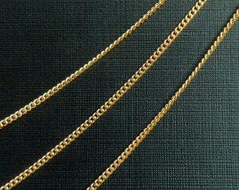 Chain 145SF, Nickel free, CJ01-10, 10m, 16k gold plated copper, Design chain, Jewelry making, Necklace Chain, Not easily tarnish