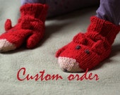Fox mittens - Custom order