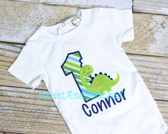 Dinosaur Birthday shirt or tee - first (1st, 2nd, 3rd, 4th) birthday dinosaur - dinosaur outfit - baby boy birthday shirt