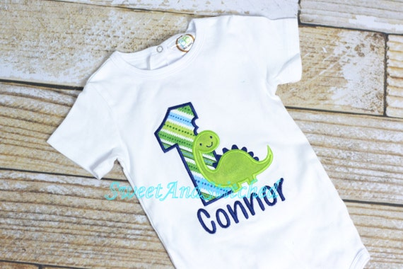 Dinosaur Birthday shirt or tee - first (1st, 2nd, 3rd, 4th) birthday dinosaur - dinosaur outfit - baby boy birthday shirt