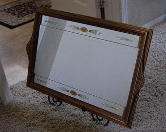 Vintage Etched Mirror Etsy