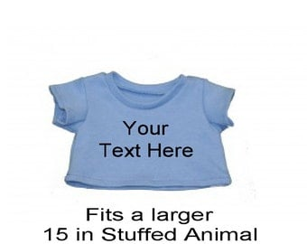 Personalized Stone Blue Teddy Tee