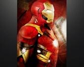 "Civil War inspired ""Iron Man: Civil War"" 11X17 Herofied Art Print Tony Stark Avengers Iron Man Mark XLVI"
