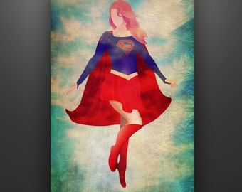 "Supergirl Inspired, ""Supergirl: In Flight"" 11X17 Herofied Art Print Melissa Benoist"