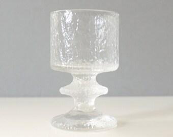 9 Available - Iittala Finland Senaattori Small Wine Glass Goblet Timo Sarpaneva Danish Modern Crystal