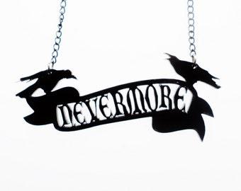 Edgar Allan Poe inspired Nevermore necklace