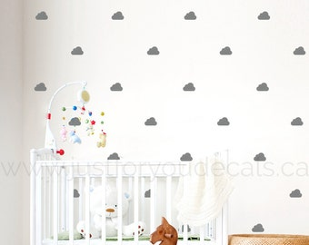 Cloud Wall Decal - Nursery Wall Decal - Cloud Patterned Wall Decal - Playroom Wall Decal - Play Room Wall Decal - 11-0005