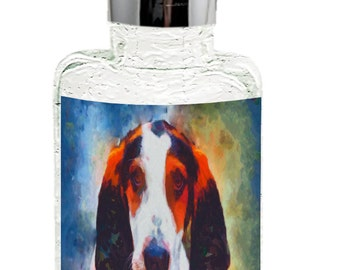 Treeing Walker Coonhound - Glass Soap/lotion Dispenser By Doggylips