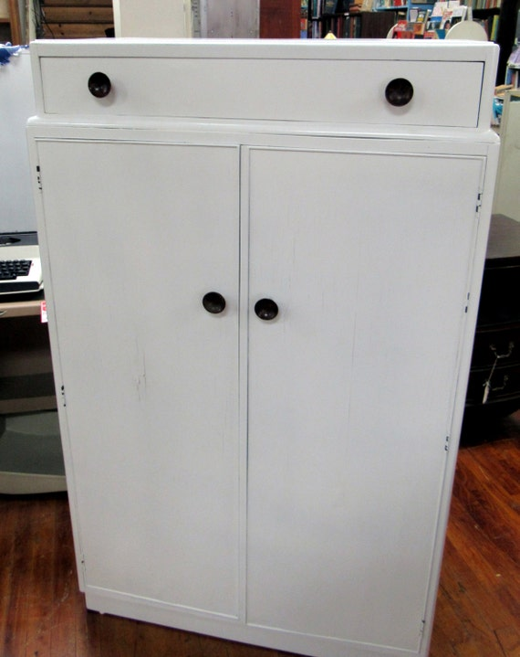 Armoire Dresser restyled white