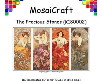 MosaiCraft Pixel Craft Mosaic Art Kit - 'The Precious Stones' (Like Mini Mosaic and Paint by Numbers)