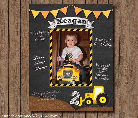 Construction Birthday Boy Printable Birthday Signature