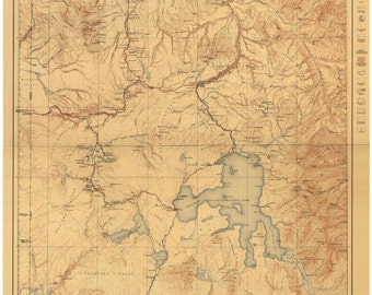 Yellowstone National Park 1912 Old Topographical Map USGS  Reprint - Wyoming - Montana - Idaho