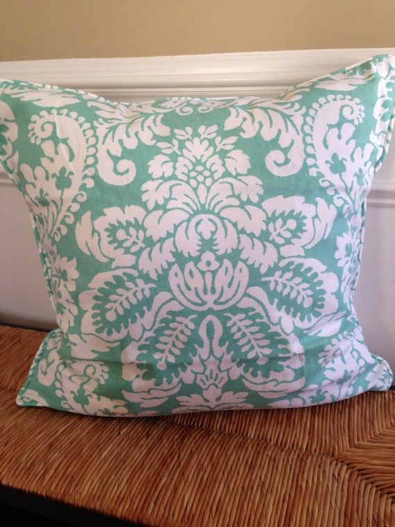 Decorative Pillow Covers 22 X 22 : Turquoise Pillow Cover 22 x 22 inch Pillow Cover Blue Pillow