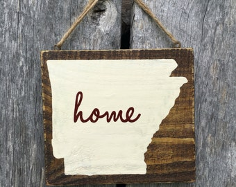 Home Is Where The Heart Is Hand Painted Sign
