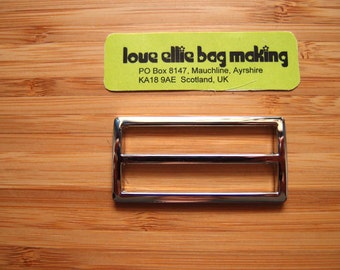 2 inch (50mm) Tri-Glide Slider in Silver Nickel / Antique Brass (one in a pack) Bag and Strap Hardware / Guitar Straps / Belt Hardware