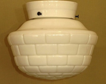 Very Short Drop Porcelain Fitter with Subway Tile Globe