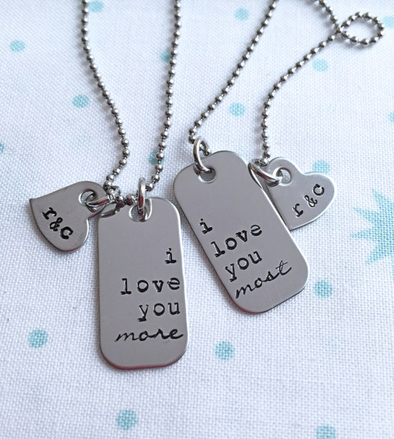 Love you most Necklace, I love you Most Jewelry, Love ...