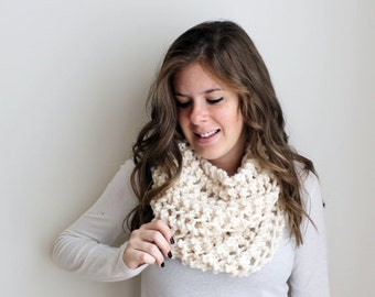 Winter SALE Knitted Scarf Chunky Cowl Fisherman - The Ellicott Cowl