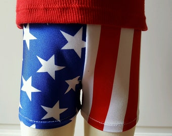 Childrens and Toddler American Flag Shorts
