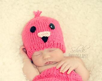 Pink Flamingo Baby Hat • Flamingo Newborn Hat • Flamingo Costume • Baby Flamingo Hat • Flamingo Newborn Photo Prop