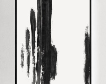 Minimalist Print, Abstract Art, Black and White Wall Art, Modern Prints, Abstract Prints, Abstract Pianting, Contemporary Art, Framed Art