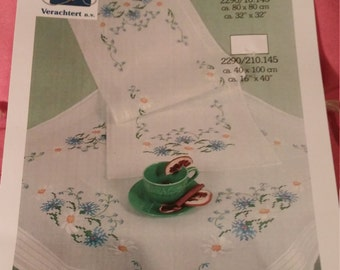 Verachtert-Mercado Counted Cross Stitch Kit. Tablecloth.