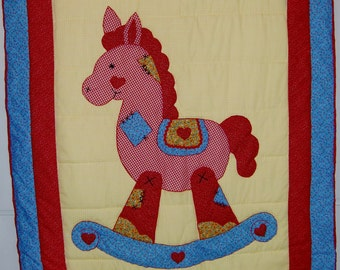 """Handmade Baby Quilts, """"Rocking Horse"""""""