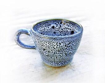 "Espresso Cup Light Blue ""Oil Spot"" Ceramic"