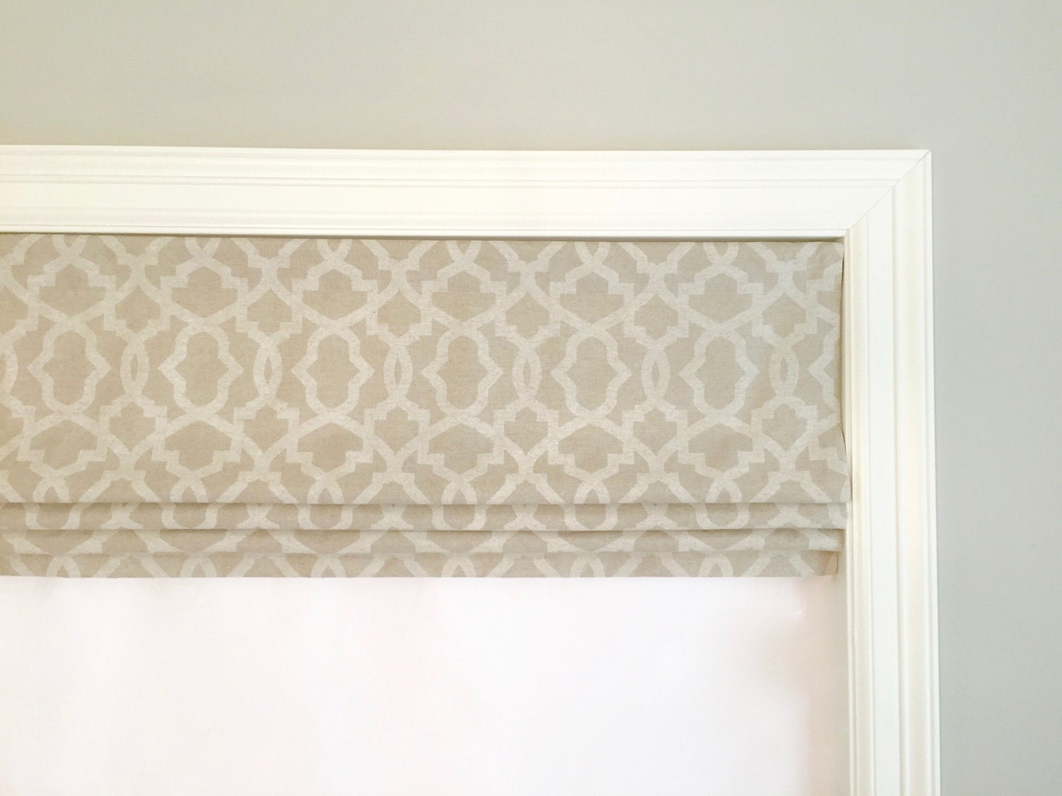Fabric Roman Blinds With Valance