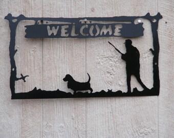 Bird Dog welcome sign. (Bassett)
