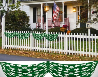Shamrocks Fabric Bunting 5.5 ft long St Patrick's Decoration