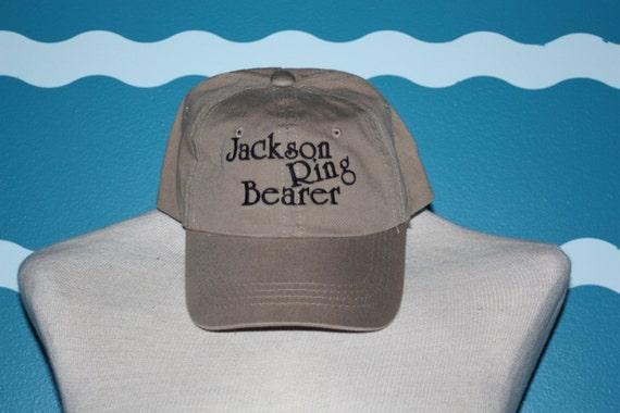 Ring Bearer Baseball cap - Custom name ring Bearer ball cap - Embroidered baseball cap for wedding party - Ring Bearer Gift - Wedding party